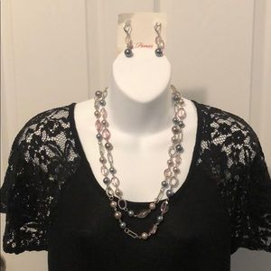 NWT Premier Designs Newport Necklace Earrings Set